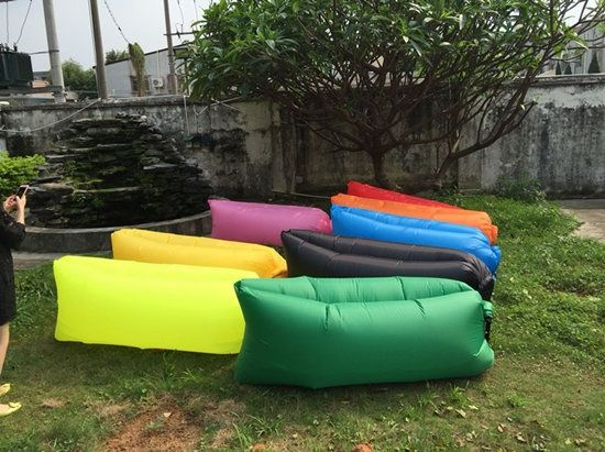 2016 hot selling  fast Inflatable Lamzac hangout Air SleepCamping Bed Only Need Ten Seconds
