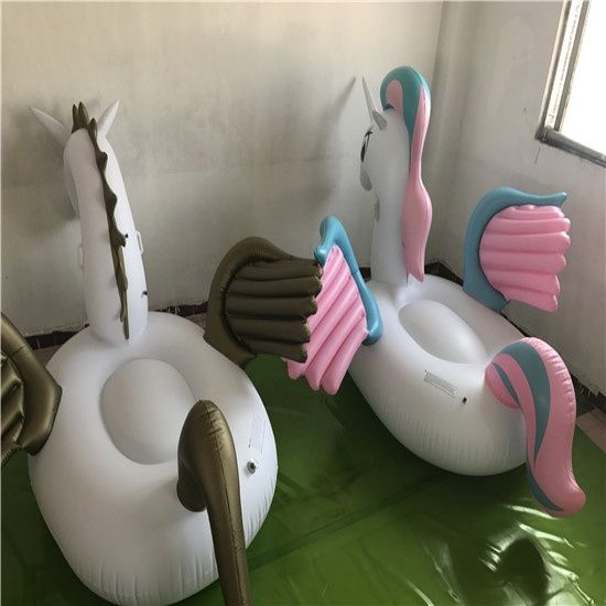 Factory wholesale swimming pool floating mat inflatable float unicorn