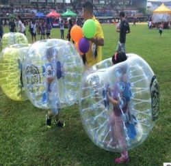 PVC Inflatable Bubble Soccer Football Ball ,Zorb Ball, inflatable human hamster ball, Bumper Ball