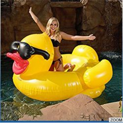 Giant inflatable Yellow Duck pool float for water play with Small order Available