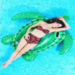 Factory Sale Inflatable Sea Turtle Ride On Pool Float For Playing in Swimming Pool