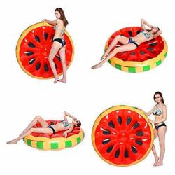 Fruit PVC float with Inflatable Watermelon float for Pool play with friends