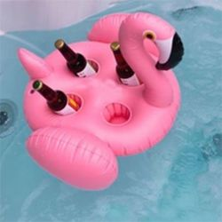 Amazing cup Holder with inflatable Flamingo Four holder for Sale