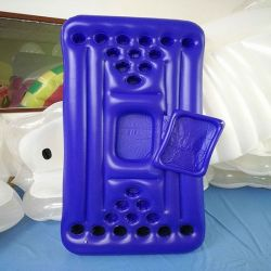 Big table holder with inflatable Blue Beer cup holder Cooler Float for Party